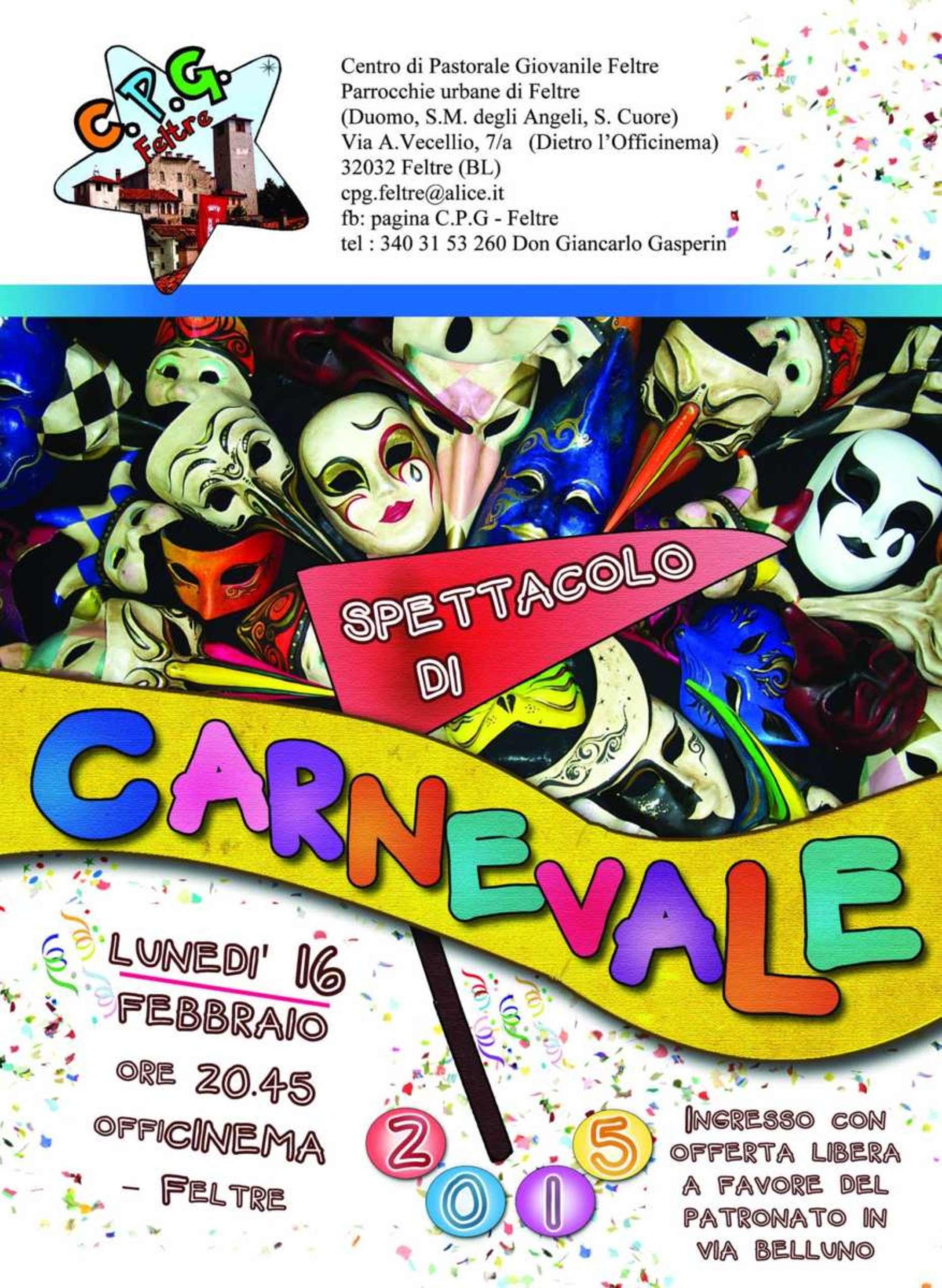 SPETTACOLO DI CARNEVALE DEL C.P.G.